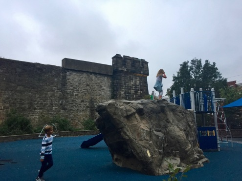 Playground outside the penitentiary walls