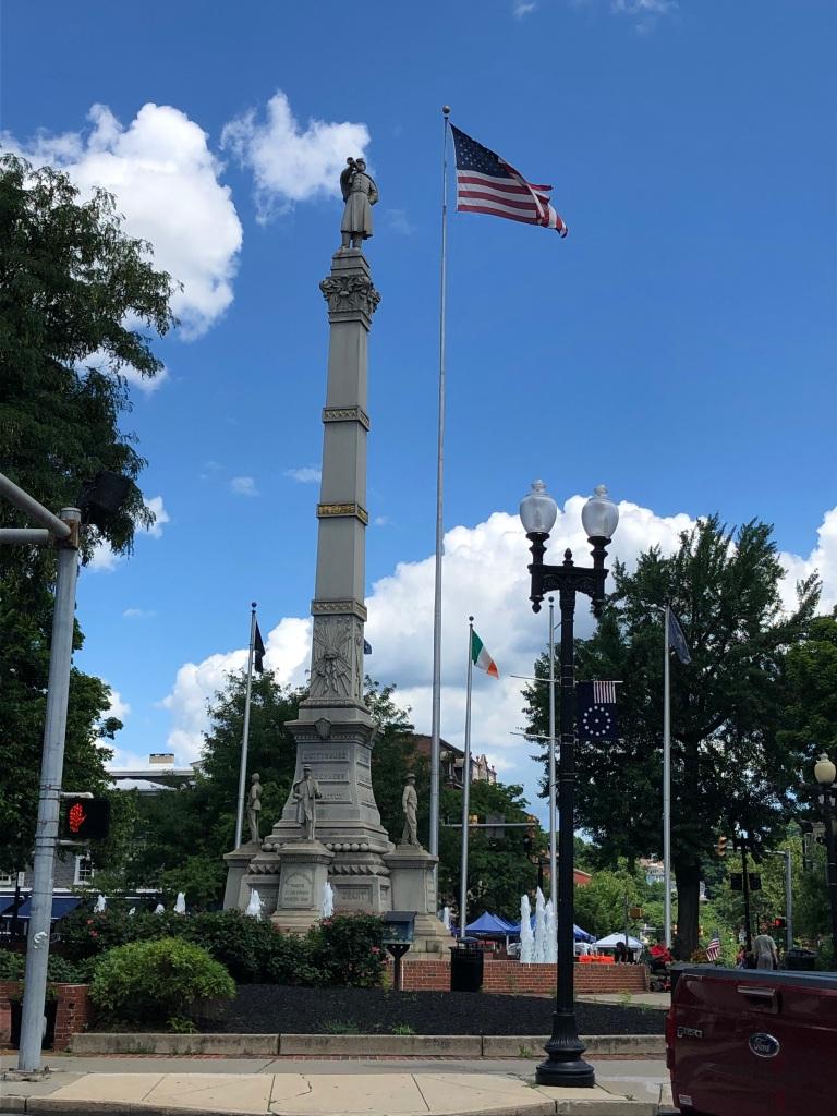 Easton, Pennsylvania - the Civil War Monument in Centre Square